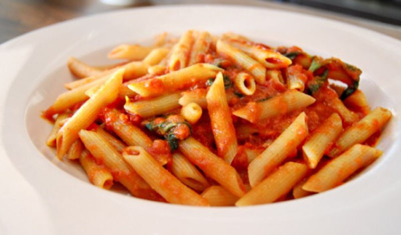 Spicy Parmesan Infused Red Sauce with Penne Pasta 1